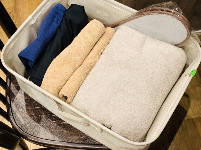 タオルと着替えのセット